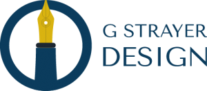 G Strayer Design Pen and Circle Logo Outline